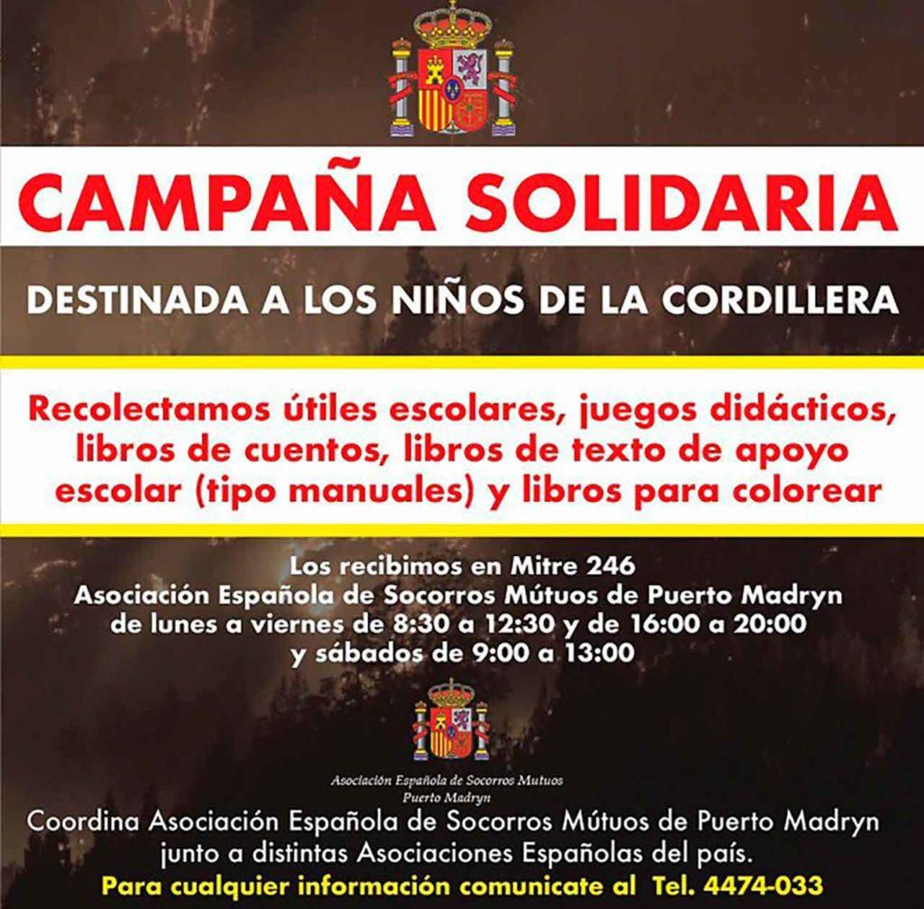 Cartel de la campaña solidaria.