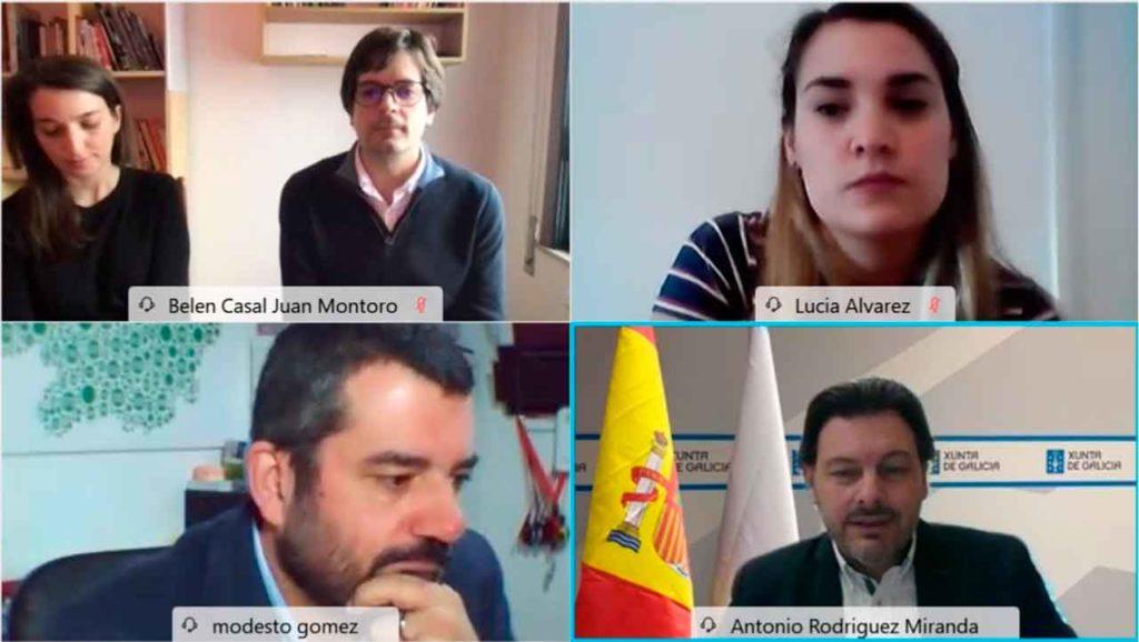 Rodríguez Miranda con algunos de los ponentes que participaron en las jornadas formativas.