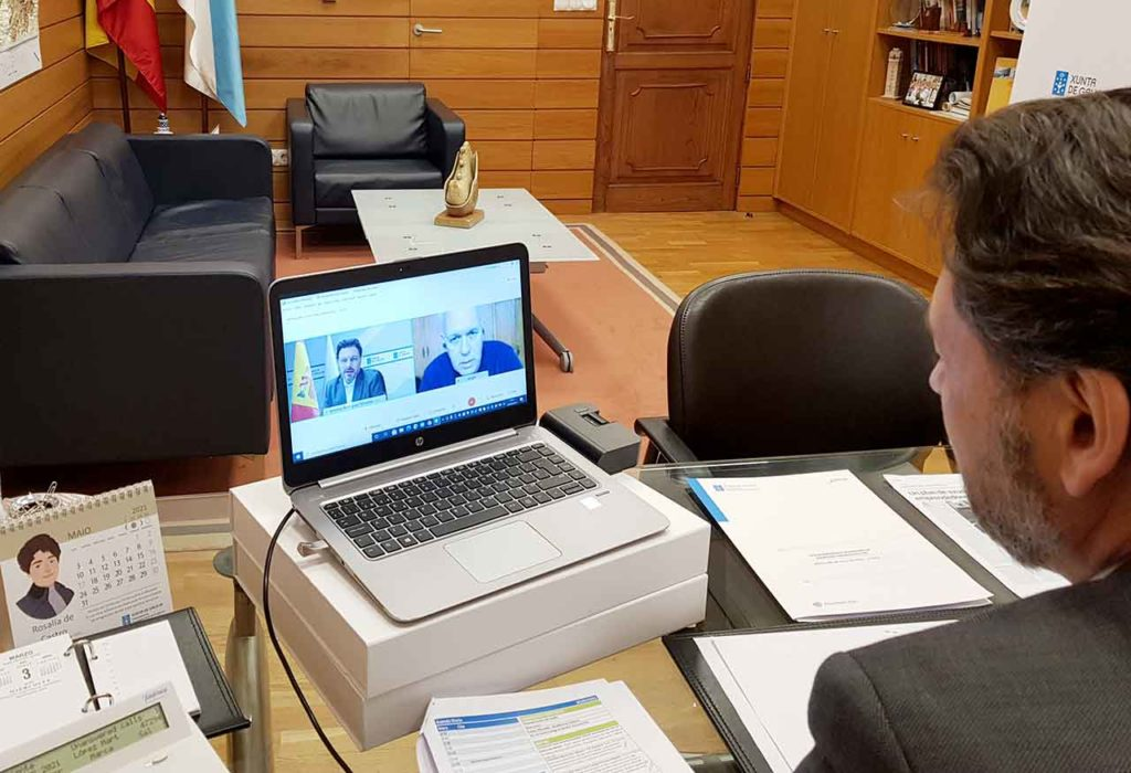 Un momento de la videoconferencia.