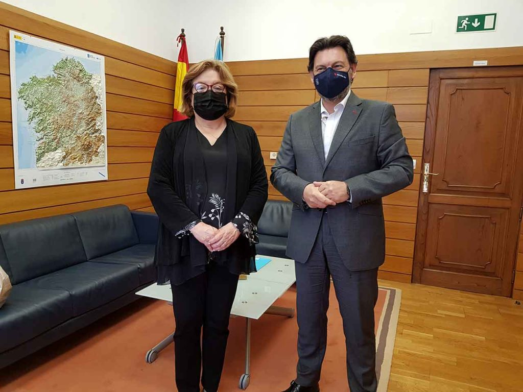 Gloria María Borrero y Antonio Rodríguez Miranda.