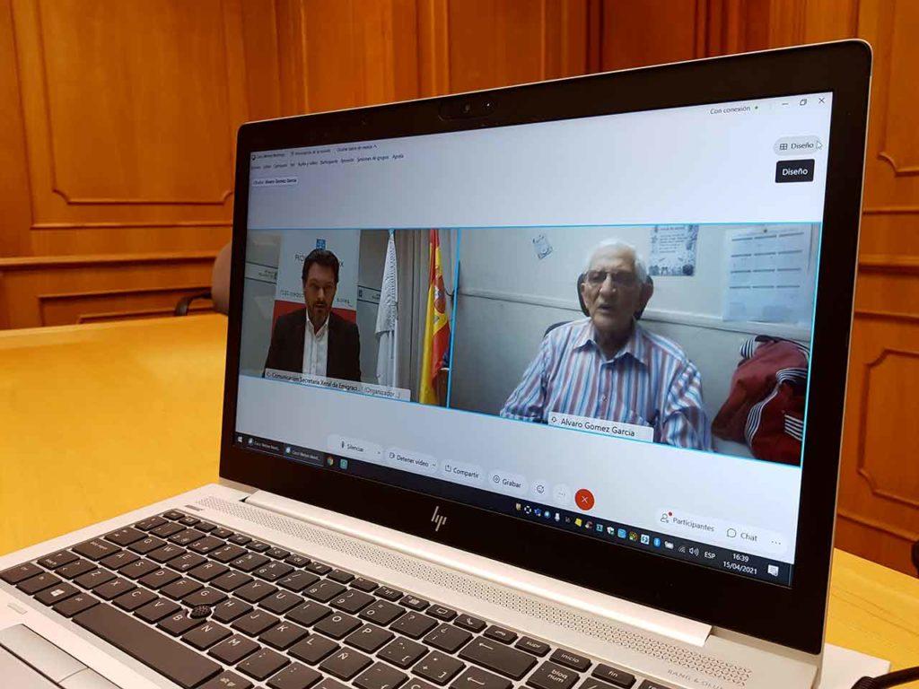 Rodríguez Miranda habló por videoconferencia con Francisco Álvaro Gómez García.