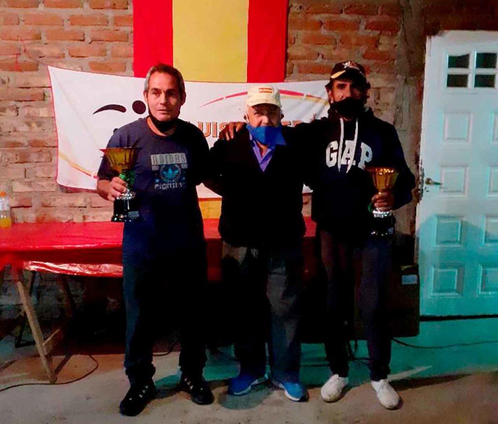 Los campeones masculinos José Luis Vidal y Hugo Tolosa de Luis Beltrán.