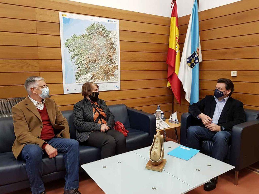 Rodríguez Miranda con el expresidente del Centro Gallego de Niteroi, Joaquim Lopes.
