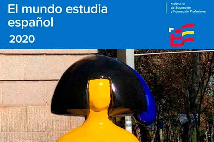 Portada del informe 'El mundo estudia español 2020'.