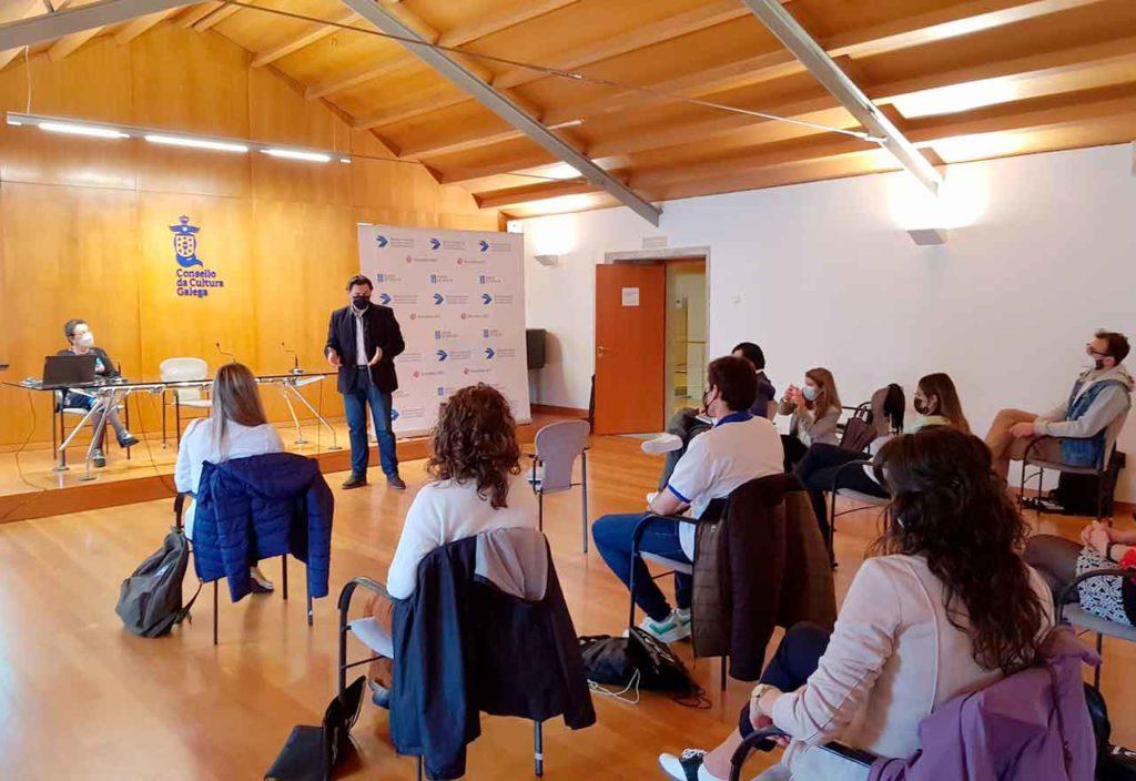 Encuentro que tuvo lugar en la sede del Consello da Cultura Galega.