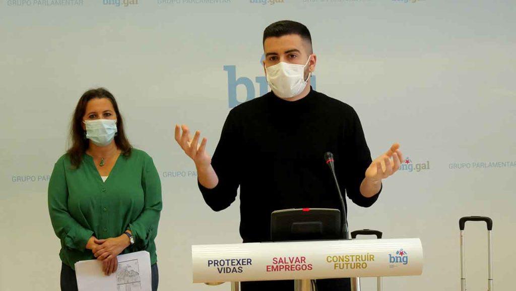 Ana Miranda y Daniel Castro durante la rueda prensa.