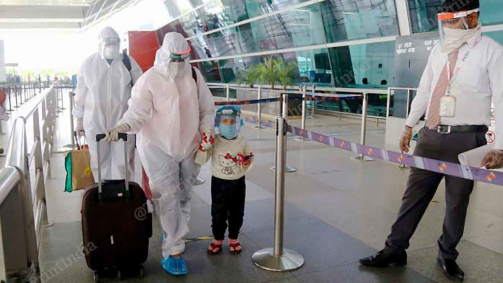 Aeropuerto internacional de Nueva Delhi.