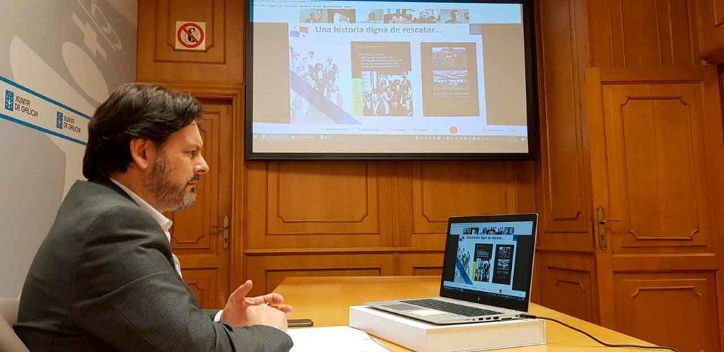 Rodríguez Miranda, durante la videoconferencia.