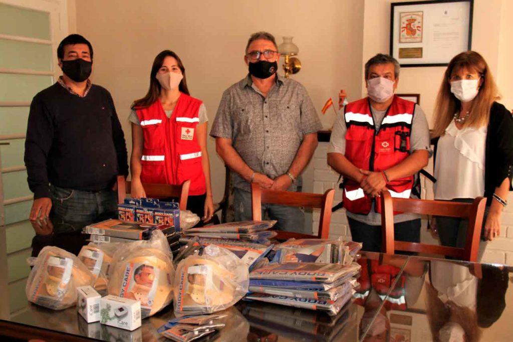 Donación a la Cruz Roja.