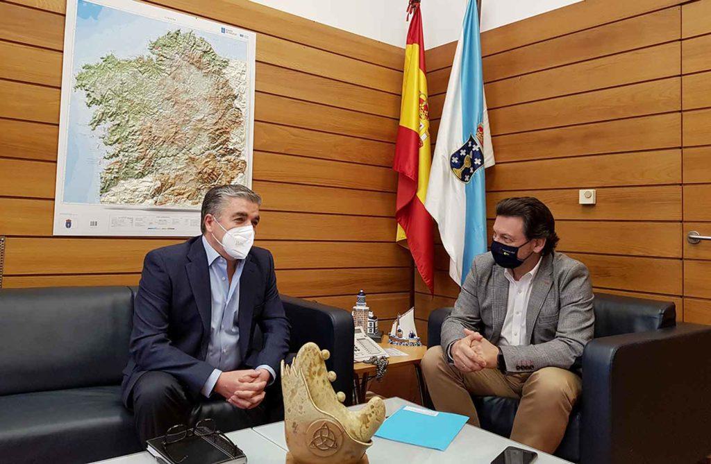 Miranda y José Carlos Taboada durante la reunión.