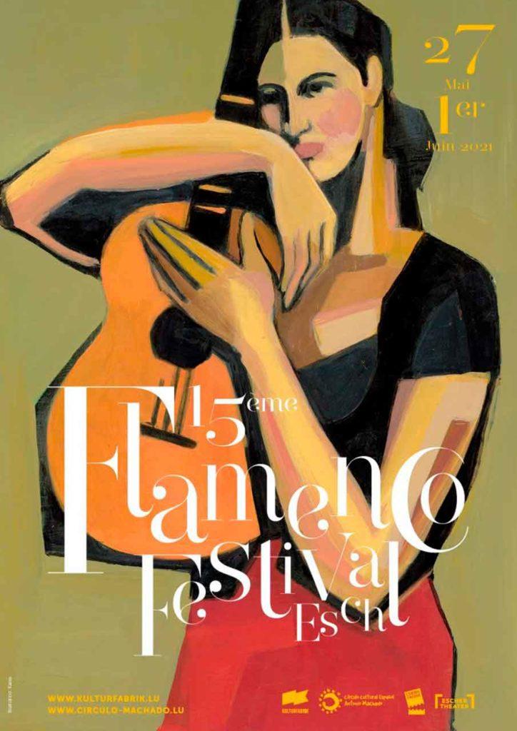 Cartel del FlamencoFestival Esch 2021.