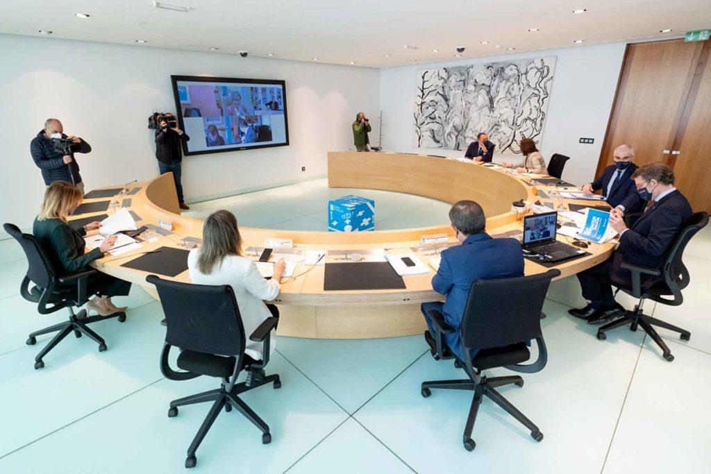 Reunión del Consello de la Xunta en la que se aprobaron las ayudas de emergencia social para este año.