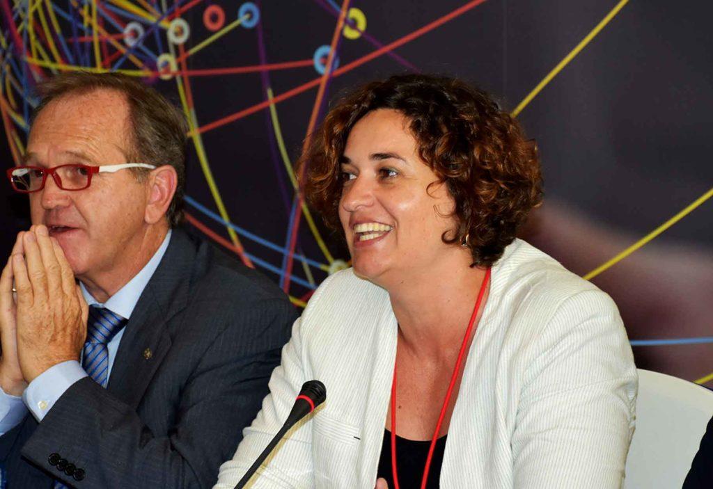 Sara Vilà en el último pleno del Consejo General de la Ciudadanía Española en el Exterior que se celebró en Madrid en junio de 2018.