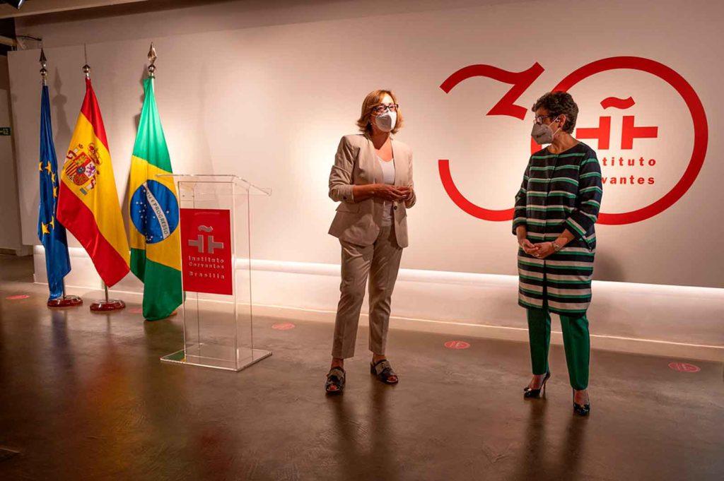 Raquel Romero Guillemas y Arancha González Laya.