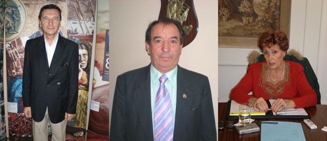 José María Vila Alén, Arturo Pérez Domínguez y María Teresa Michelón.