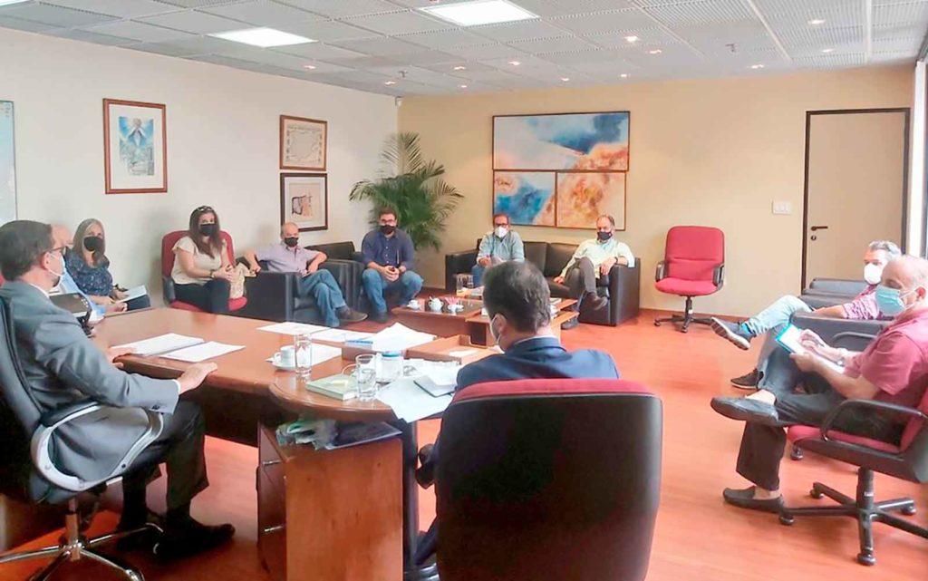 Reunión de la Comisión Electoral en el Consulado de Caracas.