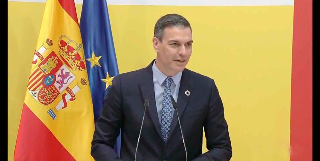 Intervención de Pedro Sánchez en Fitur el viernes 21 de mayo.