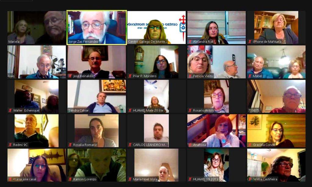 Algunos de los participantes en la asamblea de socios del Centro Gallego de Montevideo.