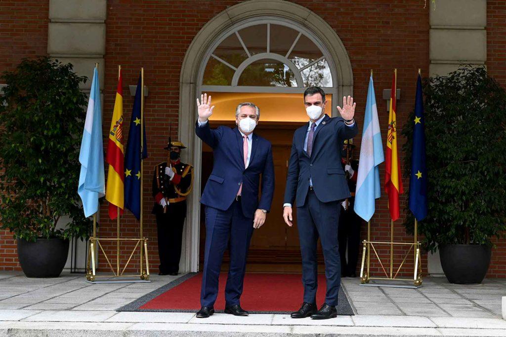 Encuentro de Alberto Fernández y Pedro Sánchez en La Moncloa el pasado 11 de mayo.