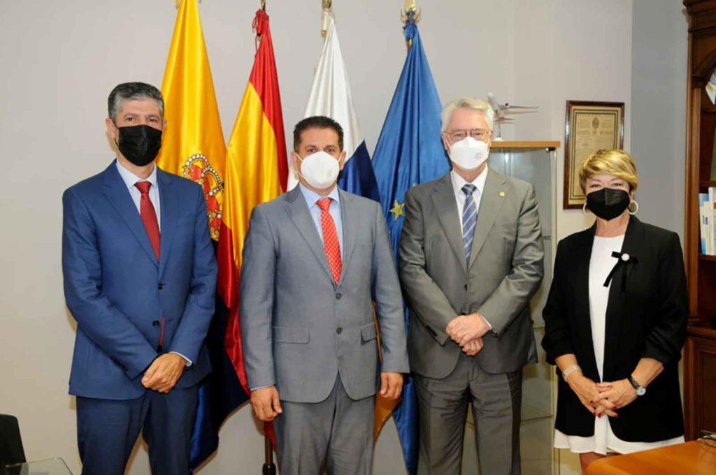 Manuel Rodríguez Santana, Juan Rafael Zamora, José Sánchez y María de la Salud Gil.