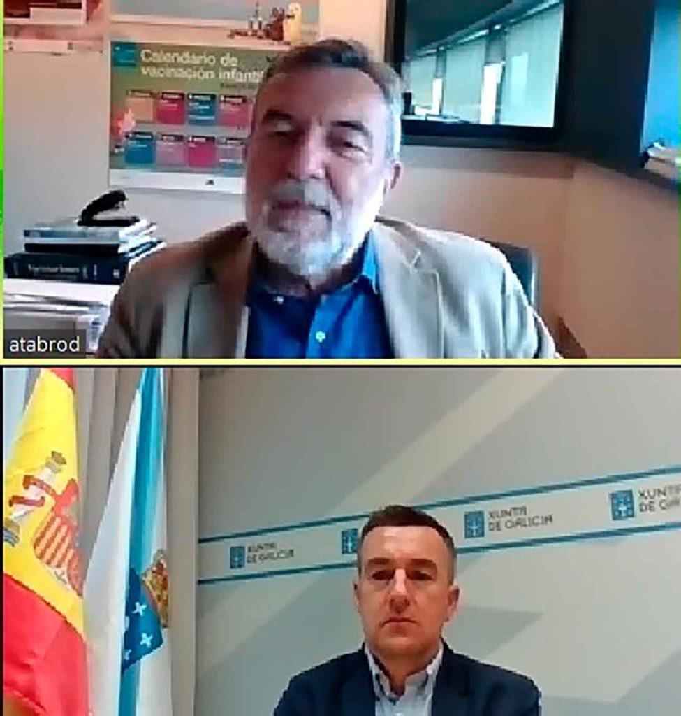José Antonio Taboada y Antonio Casas en un momento del encuentro.