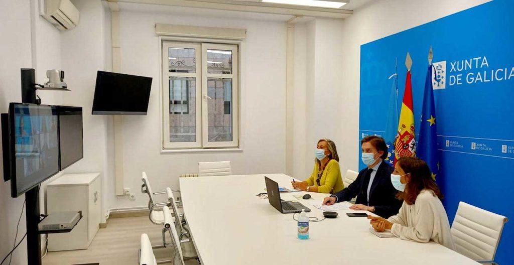 Reunión on line del director xeral de Relacións Exteriores e coa UE, Jesús Gamallo, con representantes de Unicef en España.
