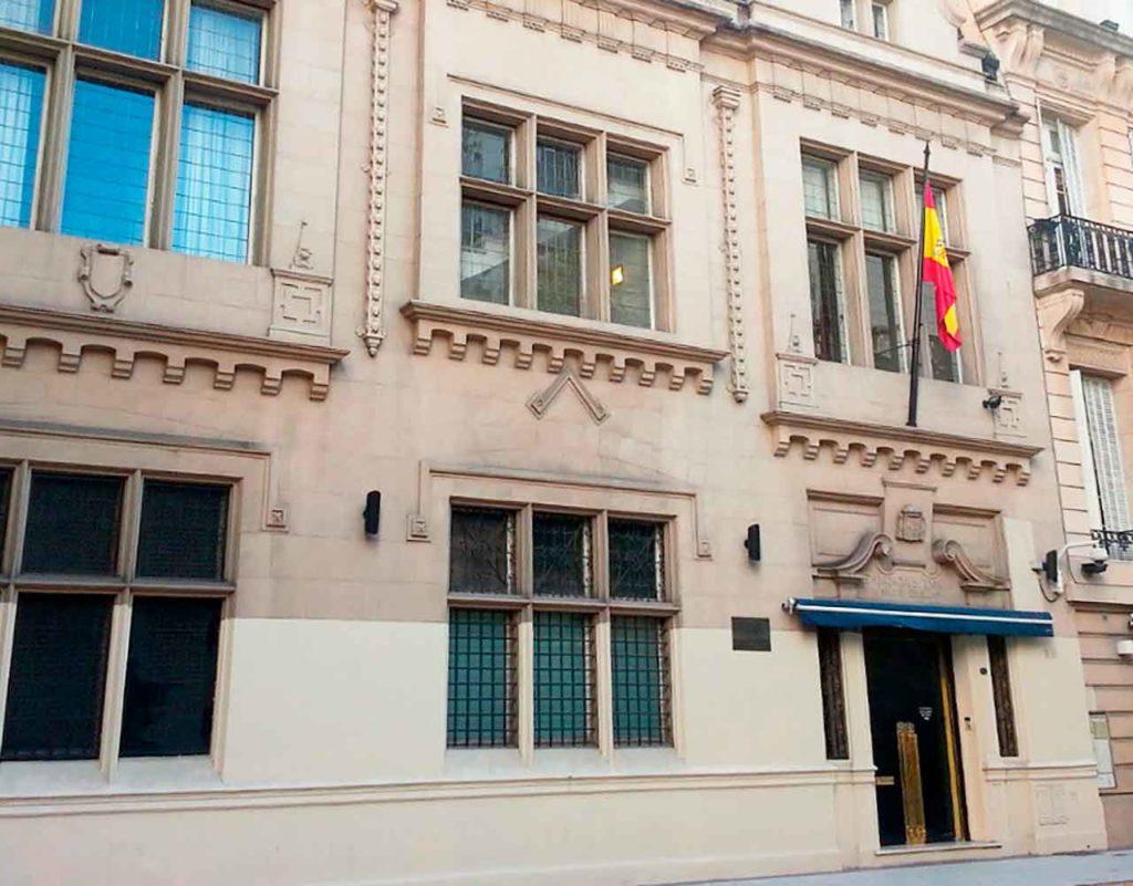 Fachada del Consulado General de España en Buenos Aires.