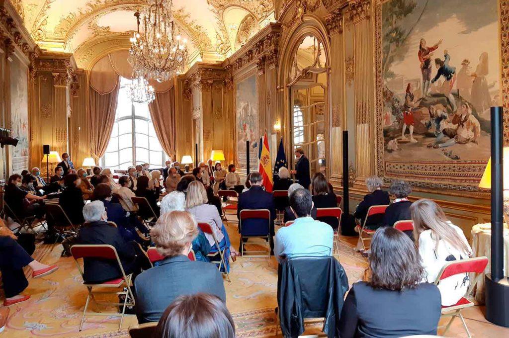 Acto celebrado en la Embajada de España en París.