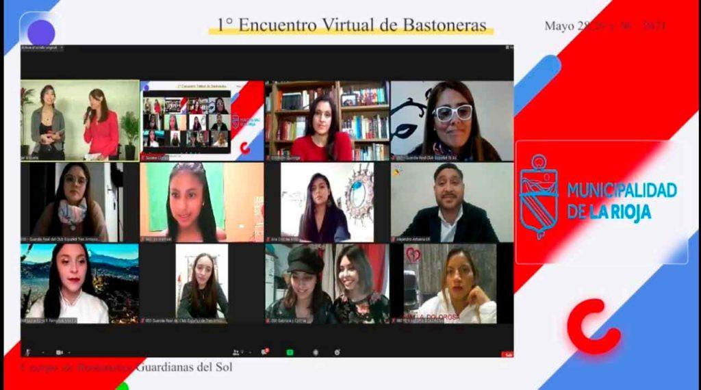 Un momento del encuentro virtual.