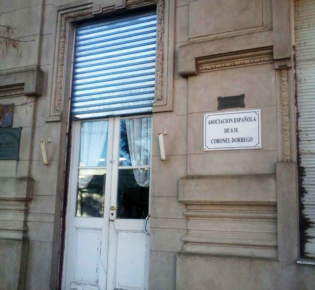 Sede de la Asociación Española de Coronel Dorrego.