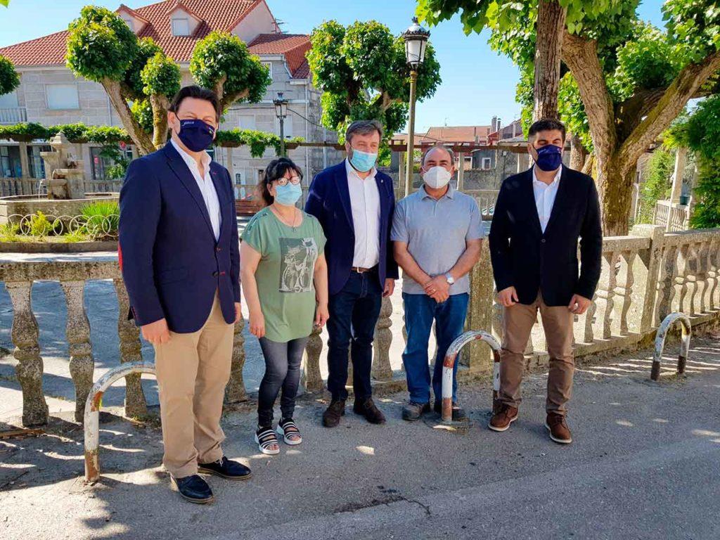 Antonio Rodríguez Miranda, María Casas Justo, Luciano Rivero, José Martínez Atanes y Gabriel Alén.