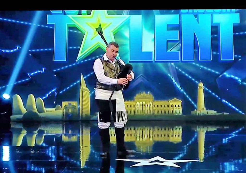 Carlos González Siri durante su actuación en Got Talent Uruguay.