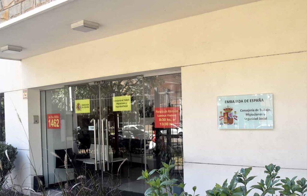 Sede de la Consejería de Trabajo en Montevideo.