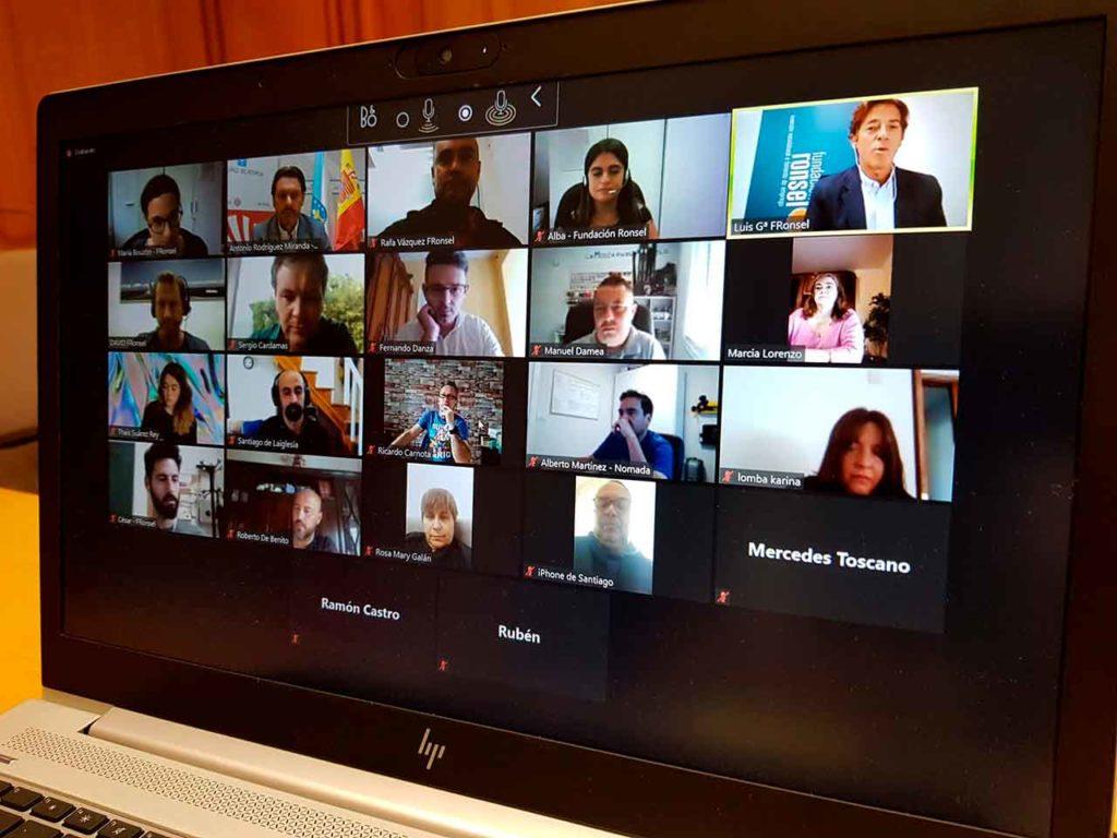 Encuentro telemático con los participantes en el programa Merlo.