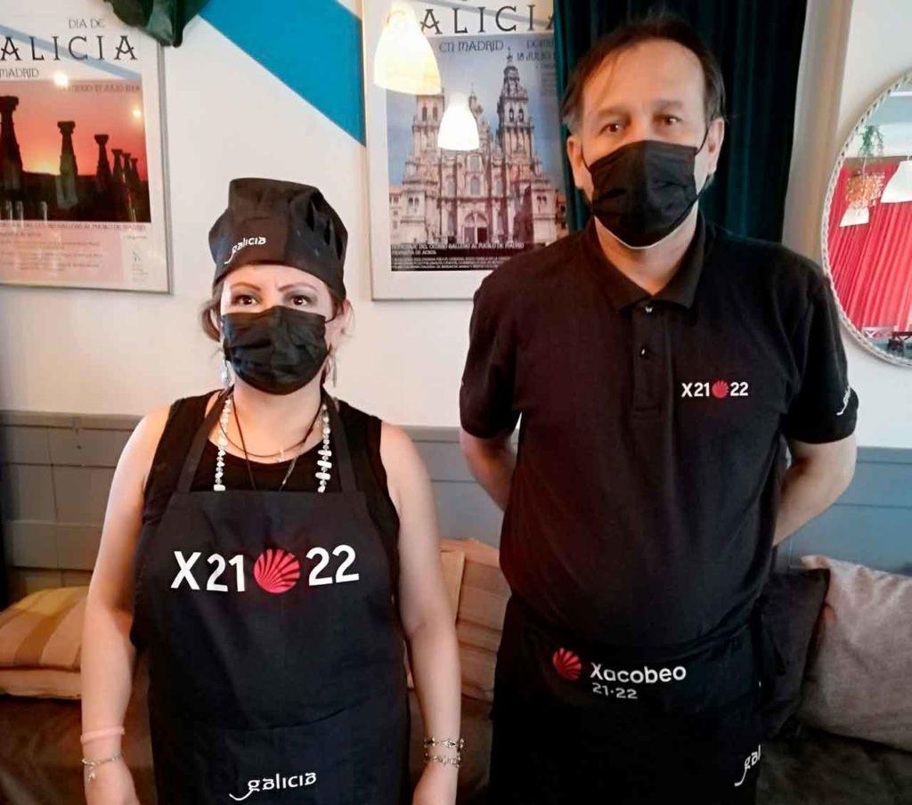 Trabajadores del restaurante del Centro Gallego de Madrid.