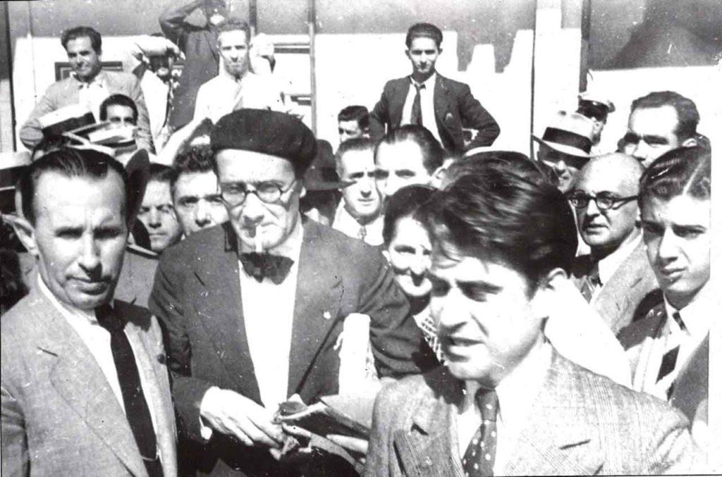 Llegada de Castelao a La Habana en 1938. Foto del Arquivo da Emigración Galega.