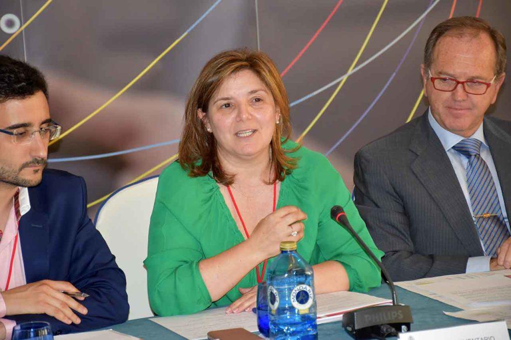Pilar Cancela en el II Pleno del VII Mandato del CGCEE.