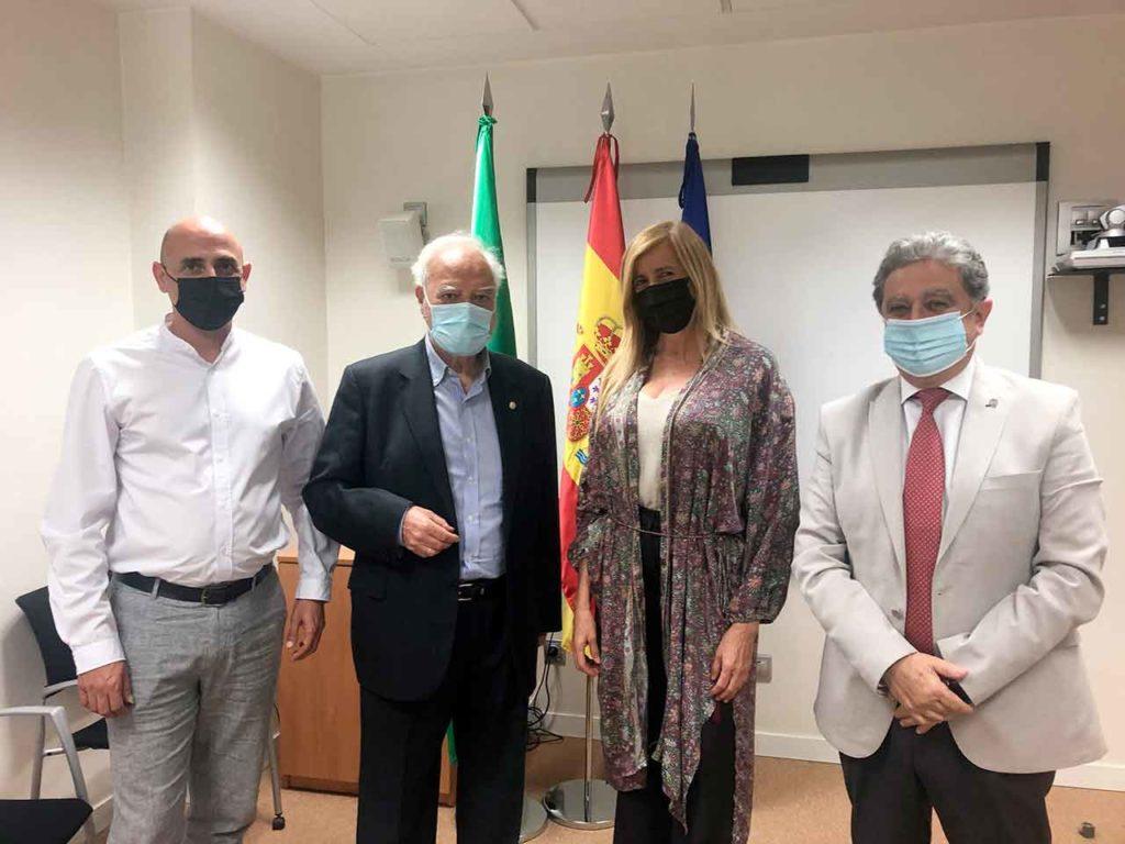 José L. Aranda, Antonio M. Ramírez, Rosario Alarcón y Enric Millo.
