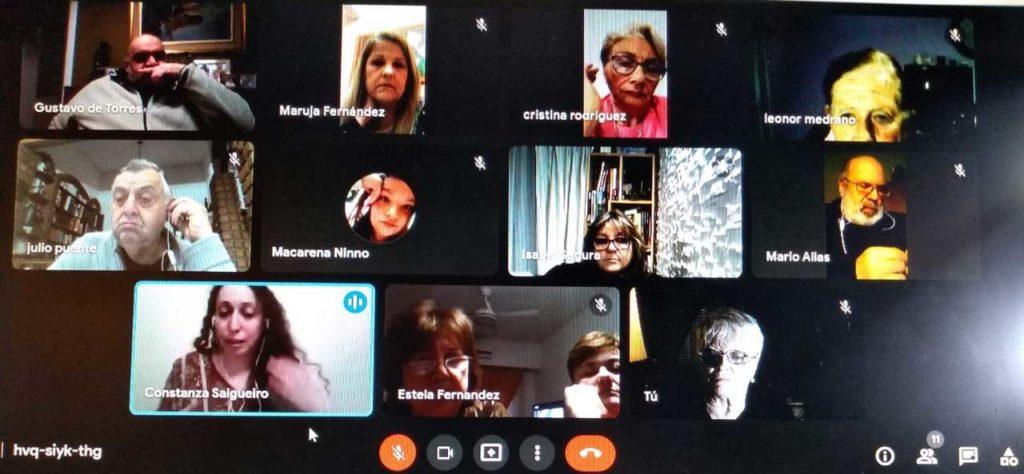Un momento de la reunión virtual de la Faara.