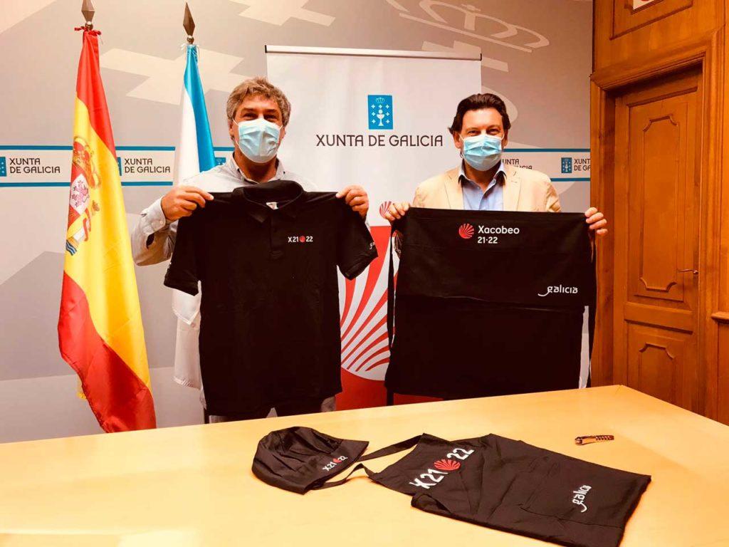 Miranda y Aguado, en la sede de la Secretaría Xeral da Emigración en la capital de Galicia.