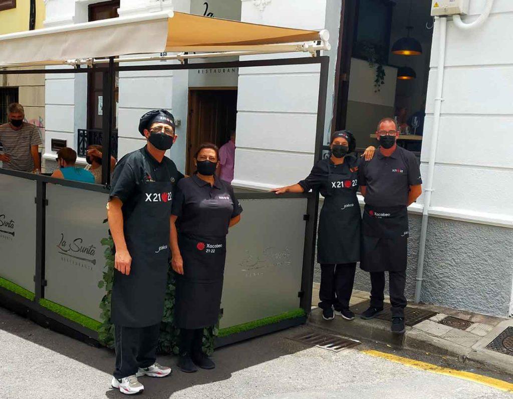Los trabajadores del restaurante del Centro Gallego de Santa Cruz de Tenerife.