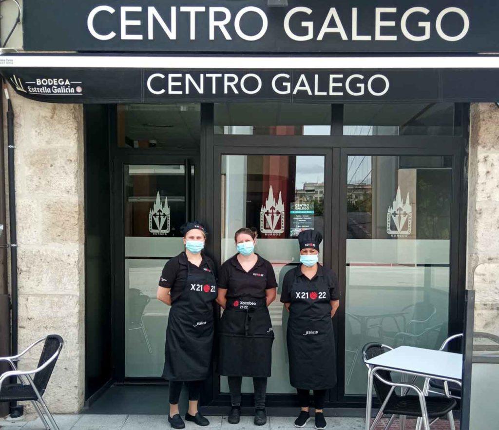 Trabajadores del Centro Galego de Burgos.