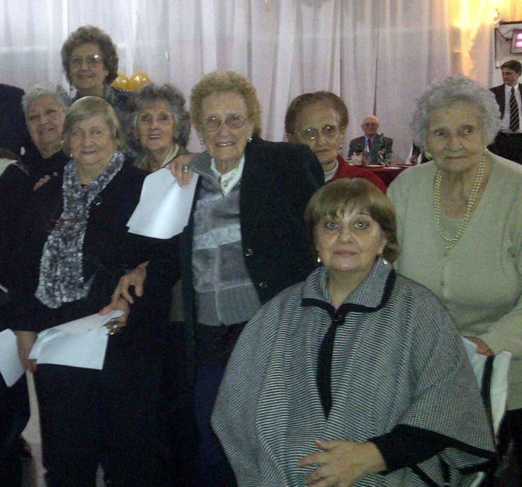 Emigrantes del Centro Canario de Rosario, en Argentina.