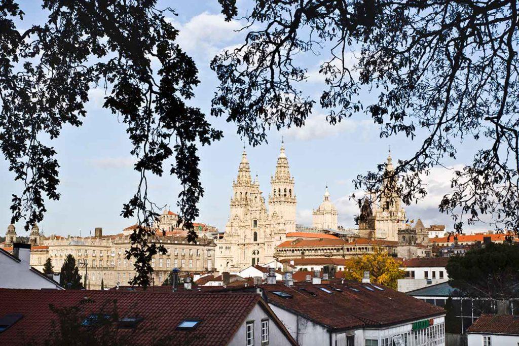 Vista de la Catedral de Santiago.