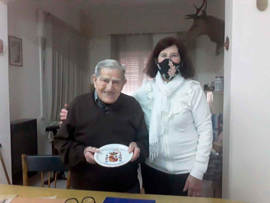 Dámaso Alonso y Estela Menéndez.