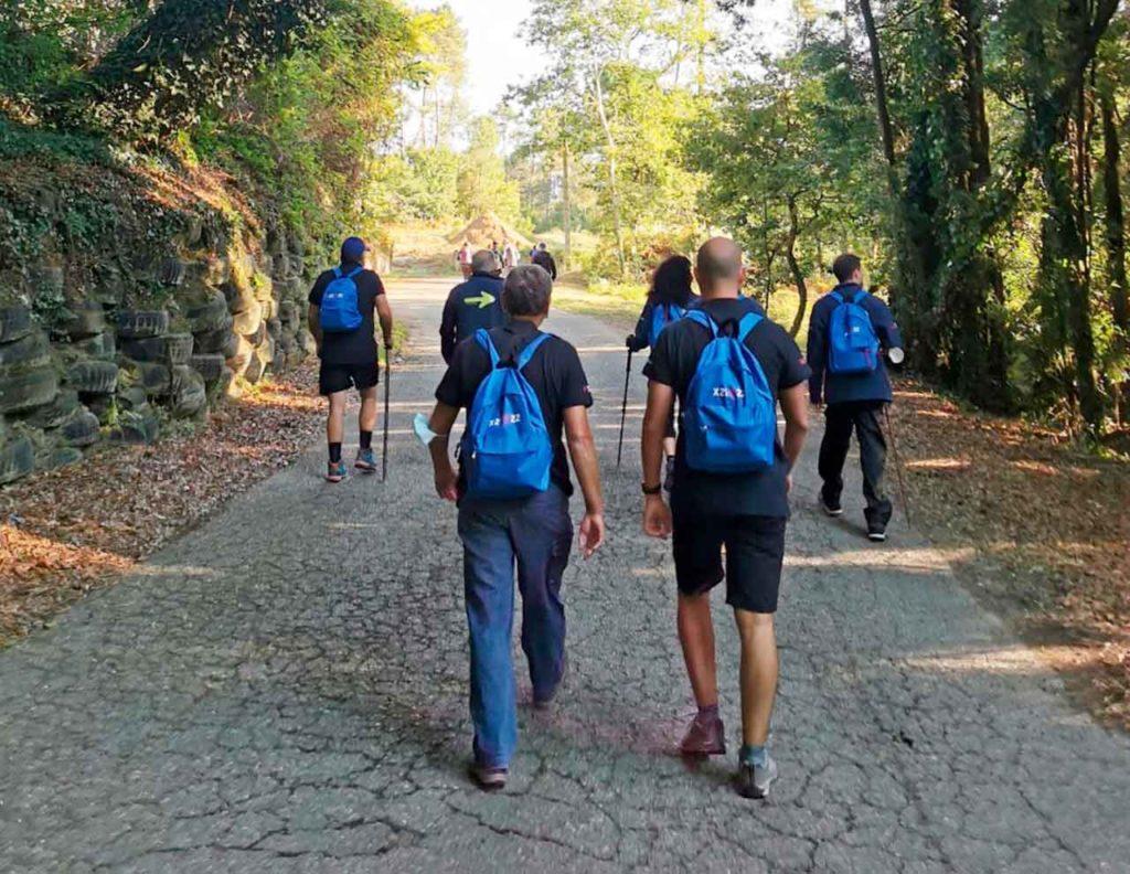 Los participantes que están recorriendo el Camino Portugués.