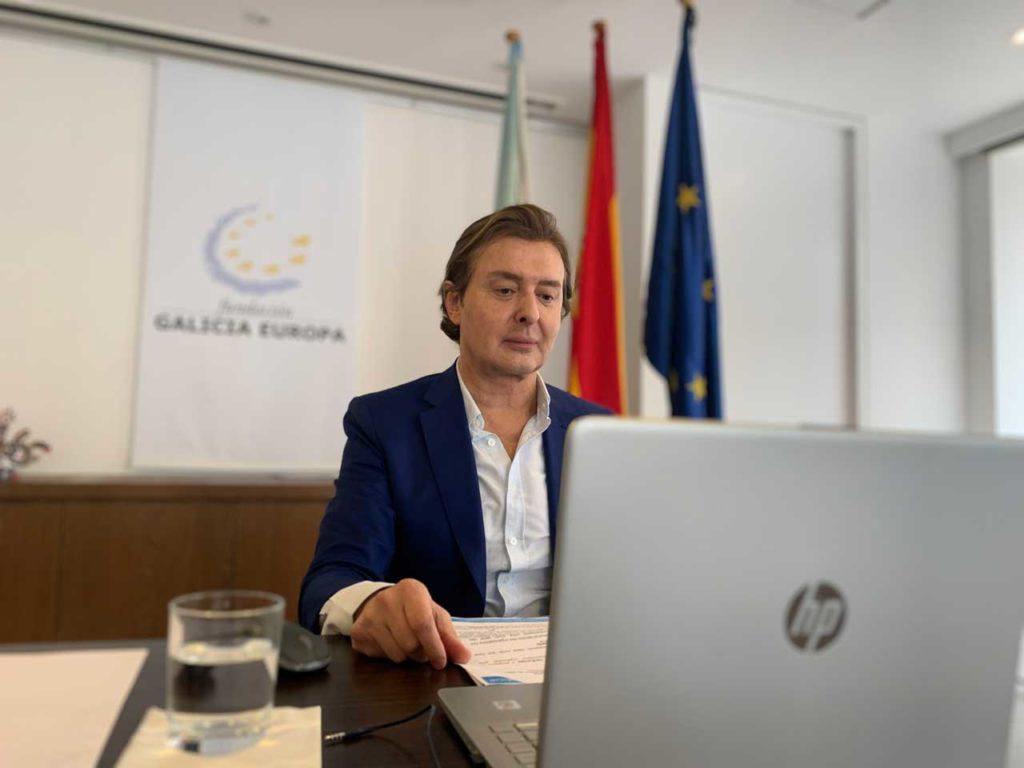 El director xeral de Relacións Exteriores e coa UE y director de la Fundación Galicia Europa (FGE), Jesús Gamallo, en la inauguración del curso.