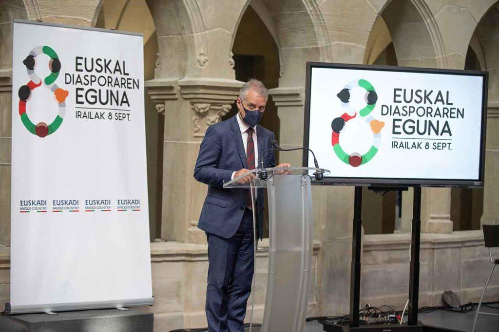 Intervención de Iñigo Urkullu en el Día de la Diáspora Vasca.