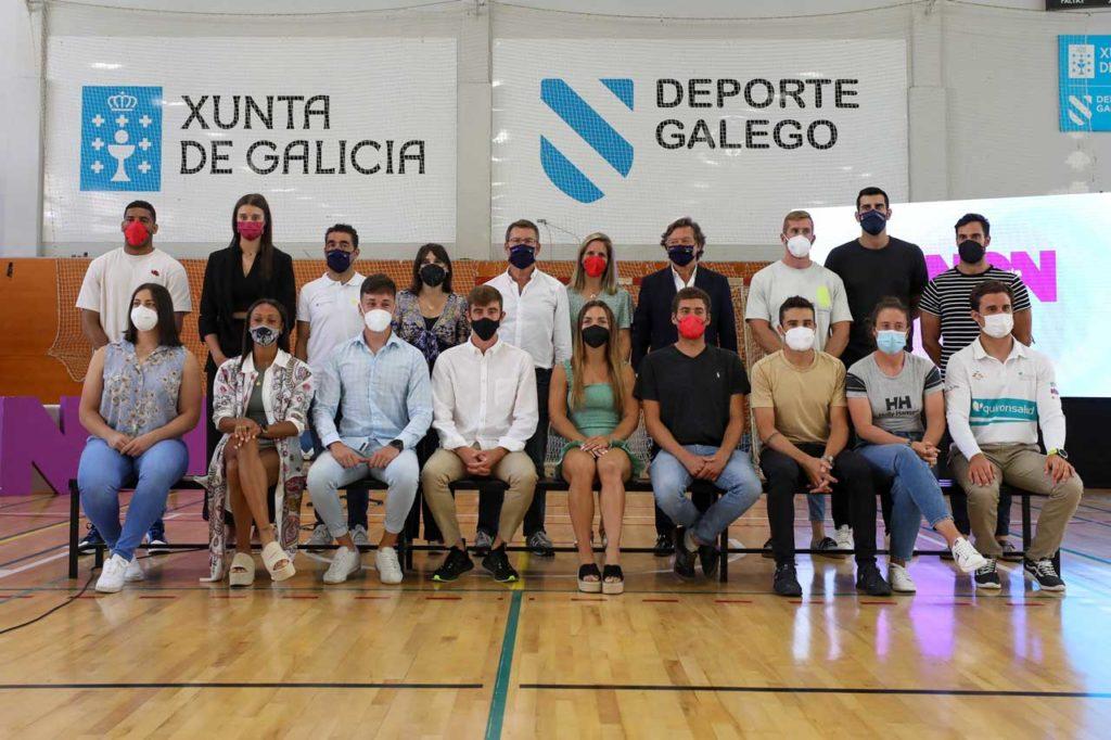 El presidente de la Xunta, Alberto Núñez Feijóo, recibió a los deportistas gallegos que participaron en los Juegos Olímpicos.