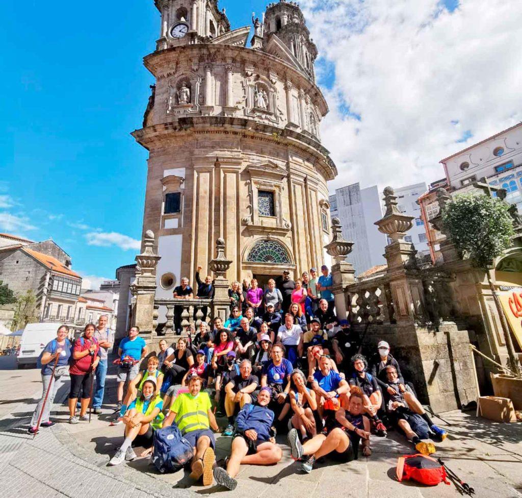 La tercera etapa del Camino Portugués la iniciaron en Pontevedra.